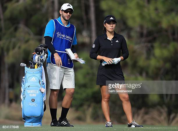 Danielle Kang waits to play her shot on the eighth hole during the second round of the CME Group Tour Championship at Tiburon Golf Club on November...