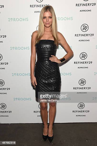 Danielle Knudson attends the Refinery29 presentation of 29Rooms a celebration of style and culture during NYFW 2015 on September 10 2015 in Brooklyn...