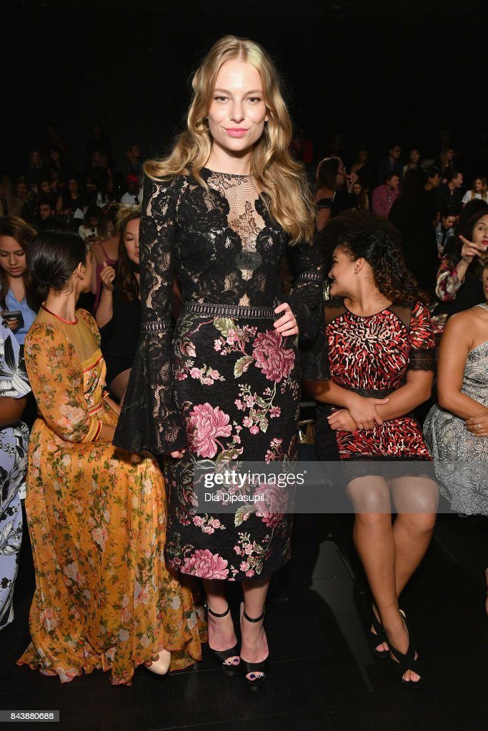 Danielle Lauder attends the Tadashi Shoji fashion show during New York Fashion Week: The Shows at Gallery 1, Skylight Clarkson Sq on September 7, 2017 in New York City.