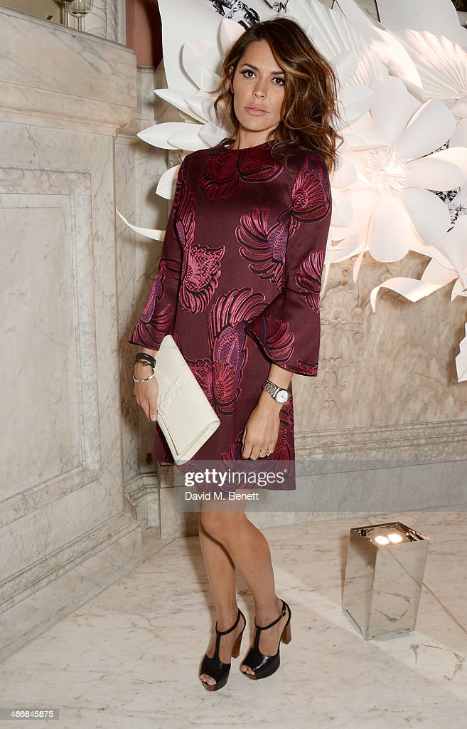 Danielle Lineker attends the InStyle Best of British Talent party in celebration of BAFTA, in association with Lancome and Sky Living, at Dartmouth House on February 4, 2014 in London, England.