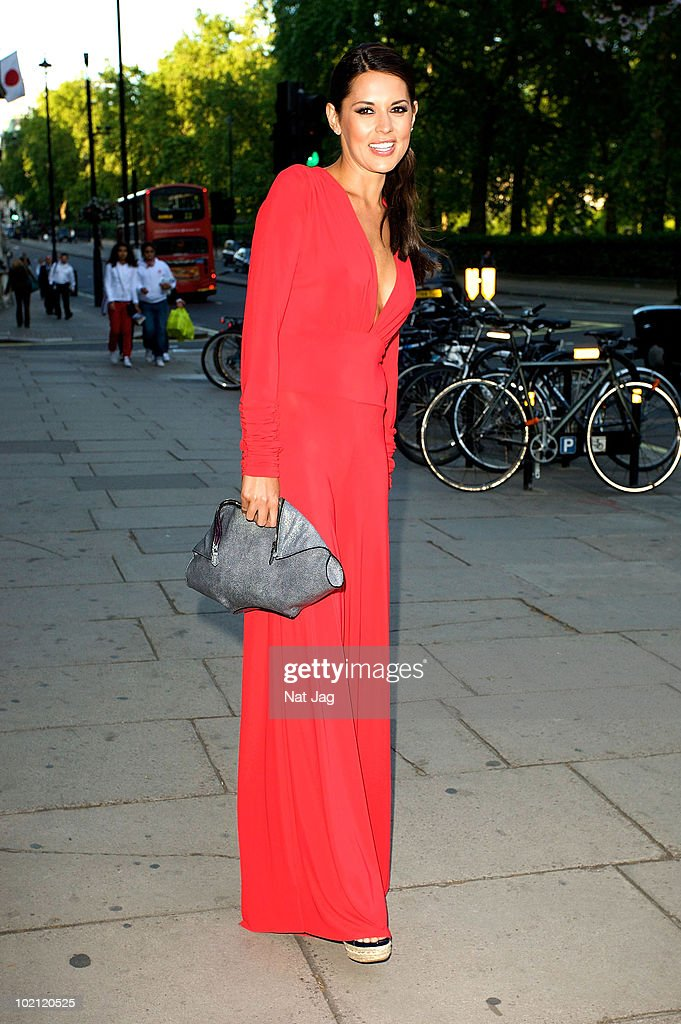 Danielle Lineker is seen at the Park Lane Hotel on June 15, 2010 in London, England.