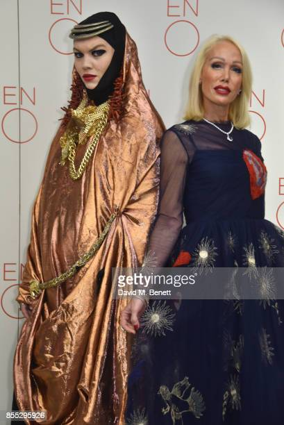 Danielle Lismore and Brigette Reid attend the press night of 'Aida' opening the English National Opera's new season at The London Coliseum on...