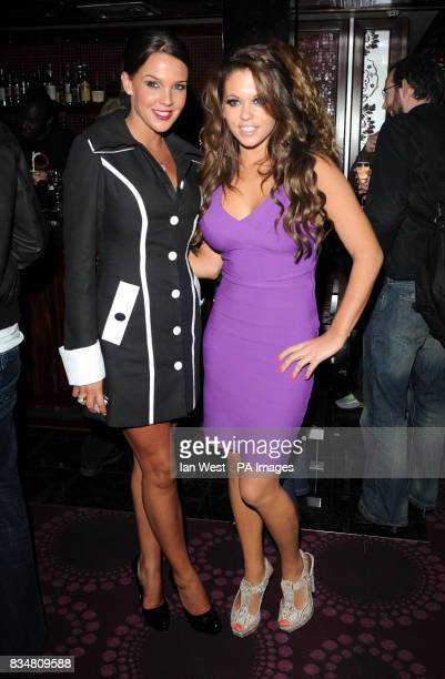 Danielle Lloyd and Bianca Gascoigne at the Topic Thunder Premiere after party London