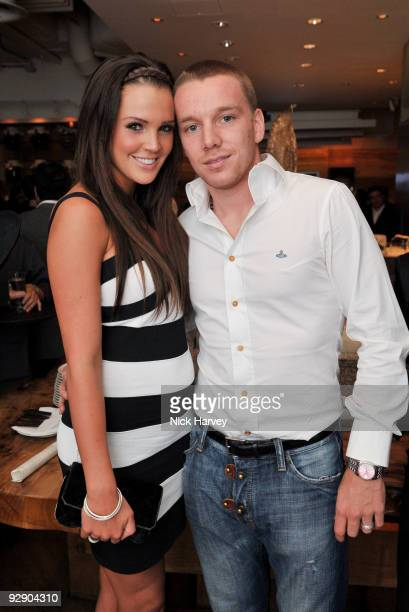 Danielle Lloyd and Jamie O'Hara attend a Japanese evening in aid of Pratham on November 8 2009 in London England