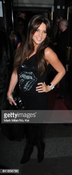 Danielle Lloyd at the Embassy Club's 7th Birthday in London