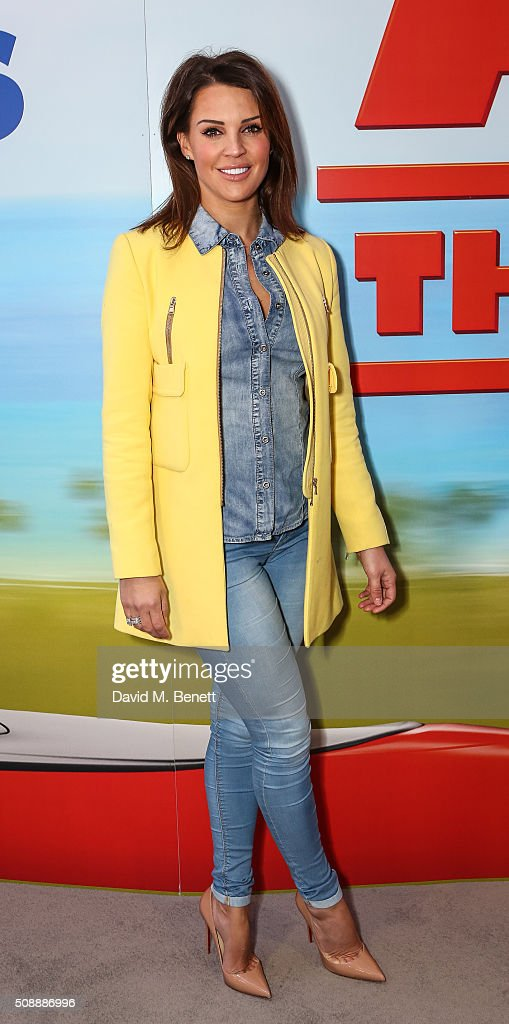 Danielle Lloyd attends a Gala Screening of 'Alvin The Chipmunks The Road Chip' at Vue West End on February 7 2016 in London England