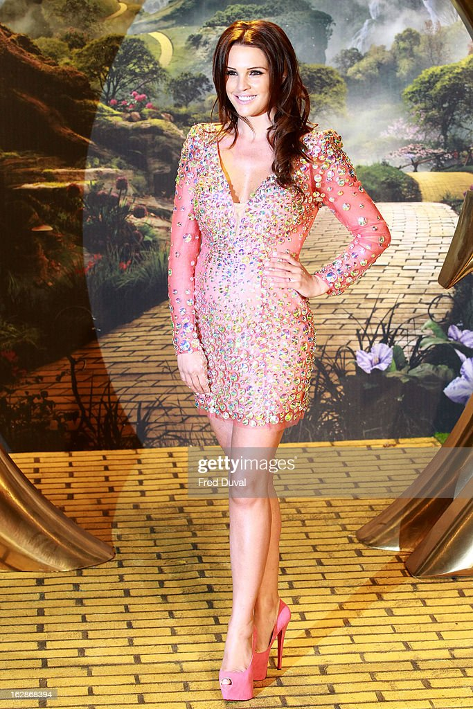 Danielle Lloyd attends the European Film Premiere of 'Oz: The Great And Powerful' at The Empire Cinema on February 28, 2013 in London, England.
