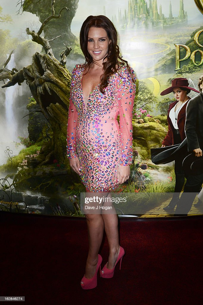 Danielle Lloyd attends the European premiere of Oz: The Great And Powerful at The Empire Leicester Square on February 28, 2013 in London, England.