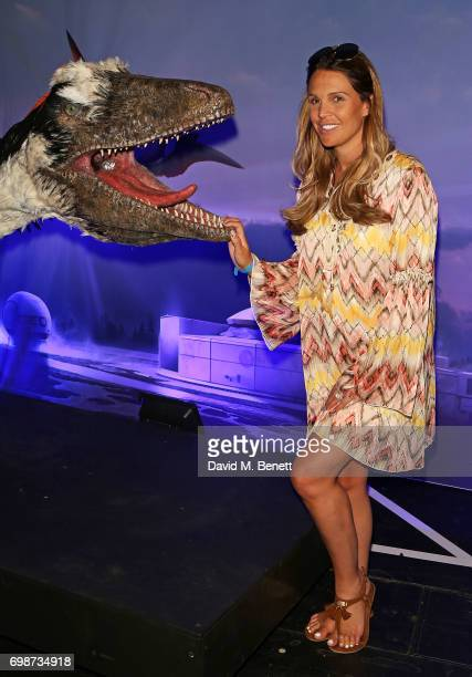 Danielle Lloyd attends the official launch of Dinosaurs in the Wild a new immersive experience at NEC Arena on June 20 2017 in Birmingham England