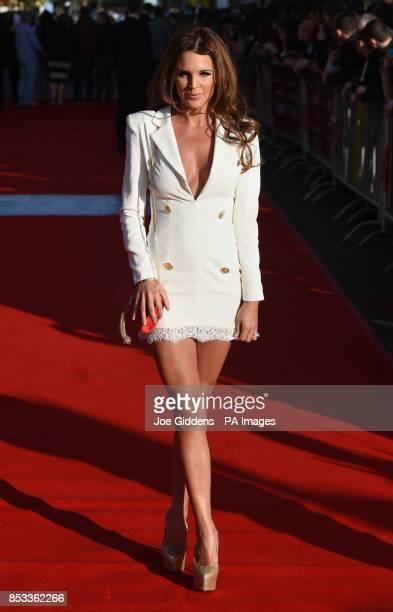 Danielle Lloyd attends the premiere of Locke at Cineworld Broad Street Birmingham