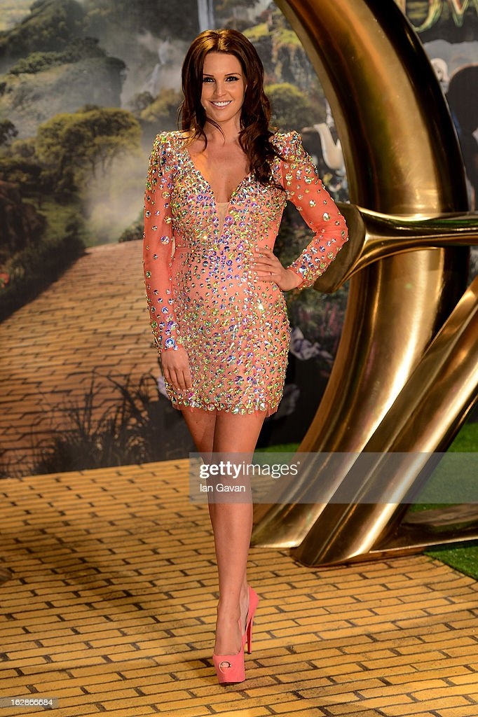 Danielle Lloyd attends the UK film premiere of Oz: The Great and Powerful at the Empire Leicester Square on February 28, 2013 in London, England.