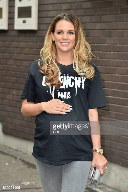 Danielle Lloyd seen at the ITV Studios on July 25 2017 in London England