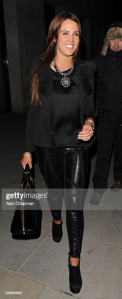 Danielle Lloyd sighting at STK restaurant on January 22, 2013 in London, England.