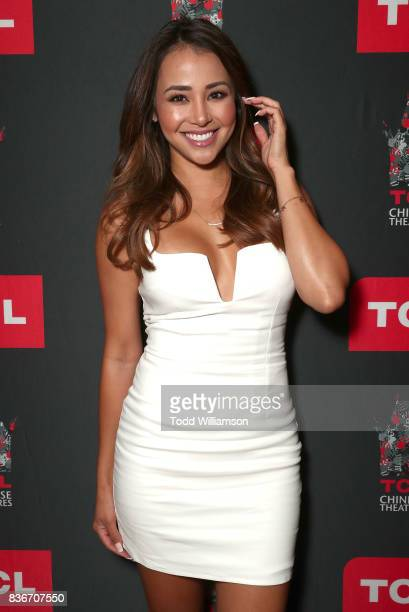 Danielle Lombard attends a 'Bachelor In Paradise' Viewing Party on August 21 2017 in Los Angeles California