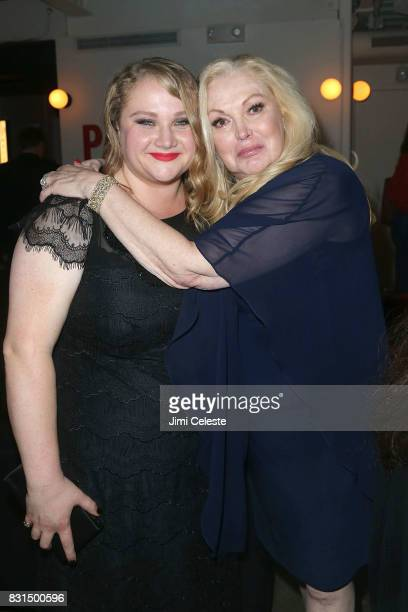 Danielle MacDonald and Cathy Moriarty attend the after party for the New York premiere of 'Pattii Cake$' at Metrograph on August 14 2017 in New York...