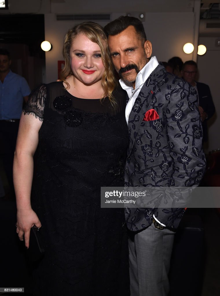 Danielle Macdonald and Wass Stevens attend 'Patti Cake$' New York After Party at The Metrograph on August 14, 2017 in New York City.
