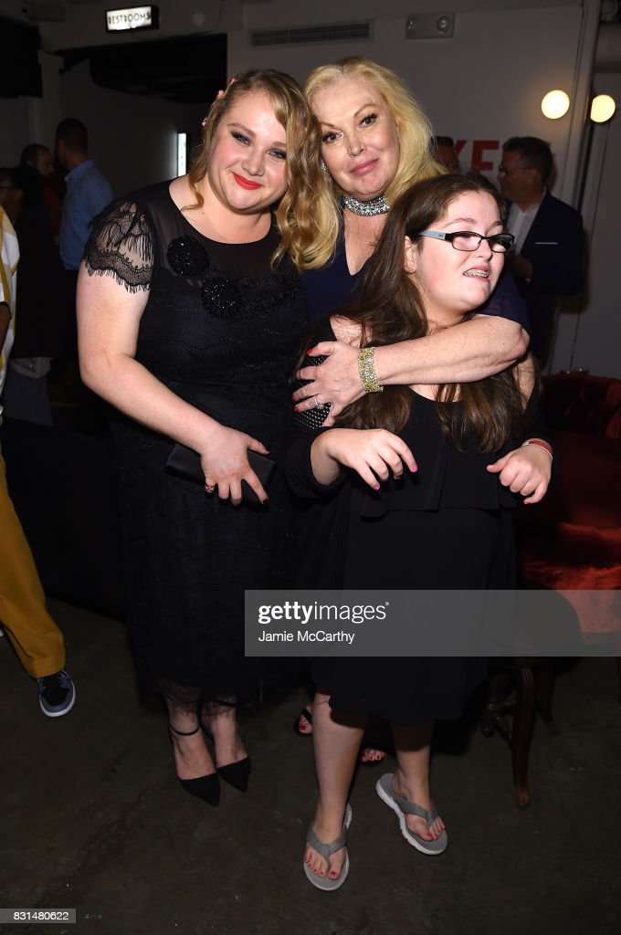 Danielle Macdonald, Cathy Moriarty and Annabella Rose Gentile attend 'Patti Cake$' New York After Party at The Metrograph on August 14, 2017 in New York City.