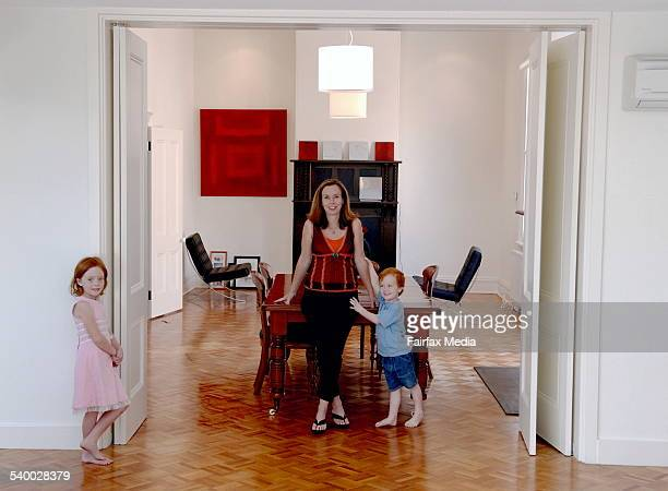 Danielle Mansfield with children Sophie and Lachlan in the new dinning room which has recently been renovated 22nd March 2006 THE SUNDAY AGE DOMAIN...