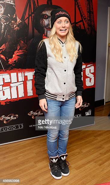 Danielle Mason attend Friday Night VIP Event held in at Thorpe Park on October 9 2014 in Chertsey England