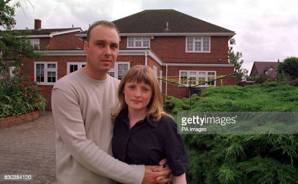 Danielle Miller comforted by her fiance Stuart McKenenzie outside her father's 55000 Bulphan Essex home Twenty year old Danielle told of her horror...