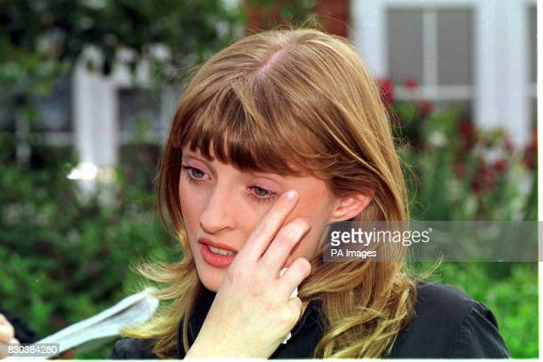 Danielle Miller speaking to the media outside her father's 55000 Bulphan Essex home Twenty year old Danielle told of her horror when she awoke the...