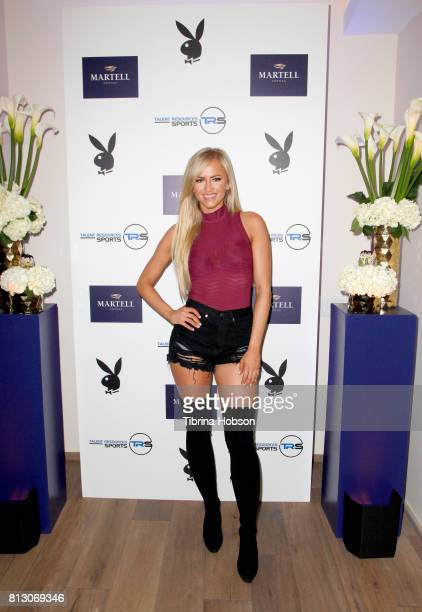 Danielle Moinet attends the Talent Resources Sports Party hosted by Martell Cognac at Playboy Headquarters on July 11 2017 in Los Angeles California