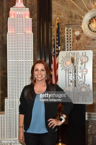 Danielle Monaro Celebrates Run 10 Feed 10 At The Empire State Building at The Empire State Building on September 13 2017 in New York City