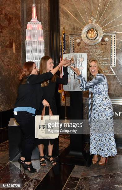 Danielle Monaro Lauren Bush Lauren and Laura FrererSchmidt Celebrate Run 10 Feed 10 At The Empire State Building at The Empire State Building on...