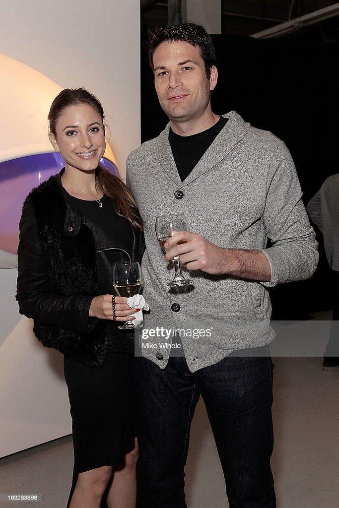 Danielle Nadick and Oren Levy attend the Kathy Taslitz 'Just Visiting' exhibition and reception benefiting P.S. Arts on March 6, 2013 in Los Angeles, California.