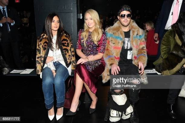 Danielle Naftali Tiffany Trump and Andrew Warren attend the Dennis Basso Collection Show during New York Fashion Week The Shows at Skylight Clarkson...