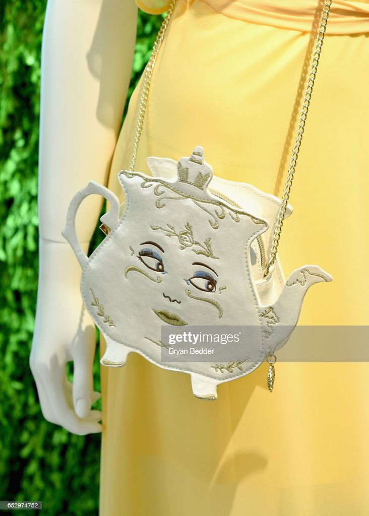 Danielle Nicole x Disney on display at Disney's Beauty and the Beast Product Showcase at Lincoln Center on March 13, 2017 in New York City.