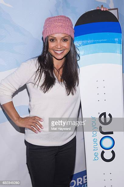 Danielle Nicolet poses for a photo in the Tone It Up Wellness Loung during the Sundance Film Festival on January 21 2017 in Park City Utah