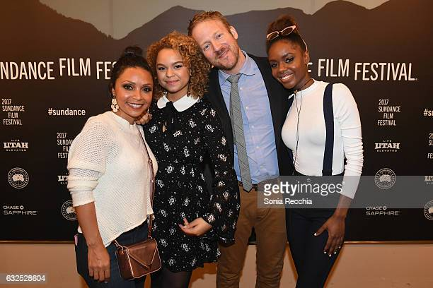 Danielle Nicolet Rachel Crow David Sullivan and Ashleigh Murray attend the 'Deidra Laney Rob A Train' Premiere at Egyptian Theatre on January 23 2017...