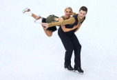 Danielle O'brien and Gregory Merriman of Australia compete during the Figure Skating Ice Dance Short Dance on day 9 of the Sochi 2014 Winter Olympics...