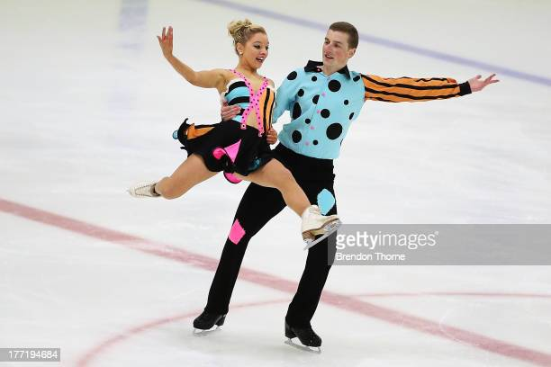 Danielle O'Brien and Gregory Merriman of Australia competes in the Senior Free Dance during Skate Down Under at Canterbury Olympic Ice Rink on August...