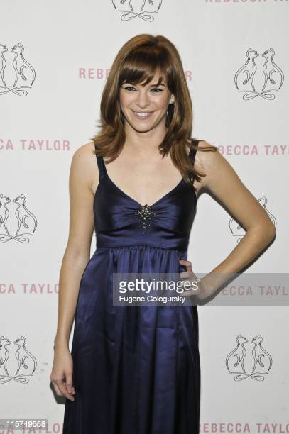Danielle Panabaker backstage at the Rebecca Taylor Fall 2009 during MercedesBenz Fashion Week at The Salon in Bryant Park on February 19 2009 in New...