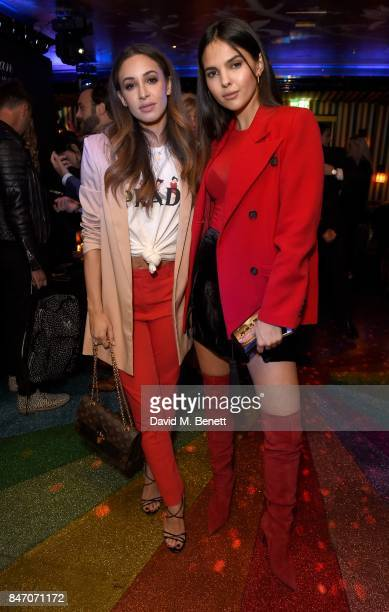 Danielle Peazer and Doina Ciobanu attend an evening to celebrate By Kilian's 10 year anniversary at Loulou's on September 14 2017 in London England