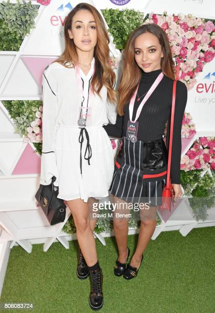 Danielle Peazer and Jade Thirlwall attend the evian Live Young suite during Wimbledon 2017 at the All England Tennis and Croquet Club on July 3 2017...