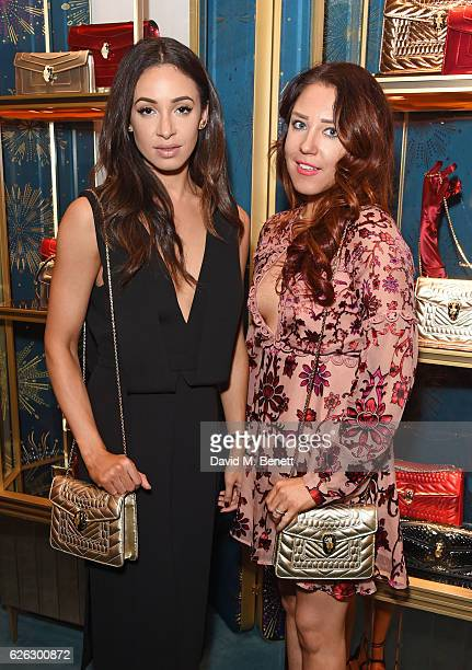 Danielle Peazer and Lorna Andrews attend as Bulgari celebrates the opening of the Selfridges Pop Up ''Wishes Full Of Colour' on November 28 2016 in...