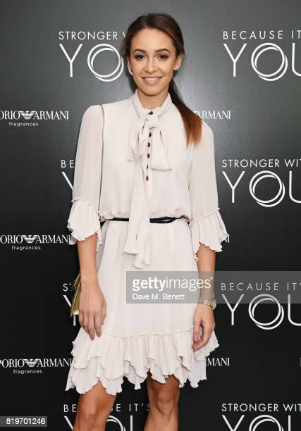 Danielle Peazer attends the Emporio Armani You Fragrance launch at Sea Containers on July 20 2017 in London England