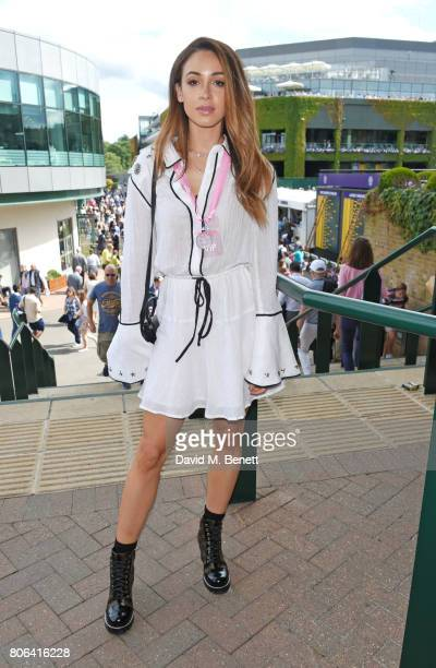 Danielle Peazer attends the evian Live Young suite during Wimbledon 2017 at the All England Tennis and Croquet Club on July 3 2017 in London England