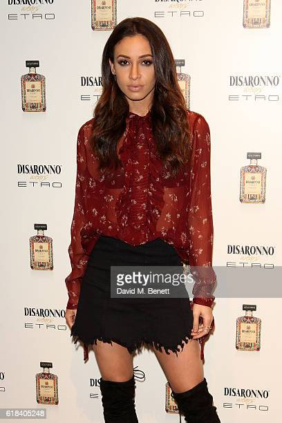 Danielle Peazer attends the launch of Disaronno Wears Etro celebrating the limited edition bottle at the Etro Bond Street boutique on October 26 2016...