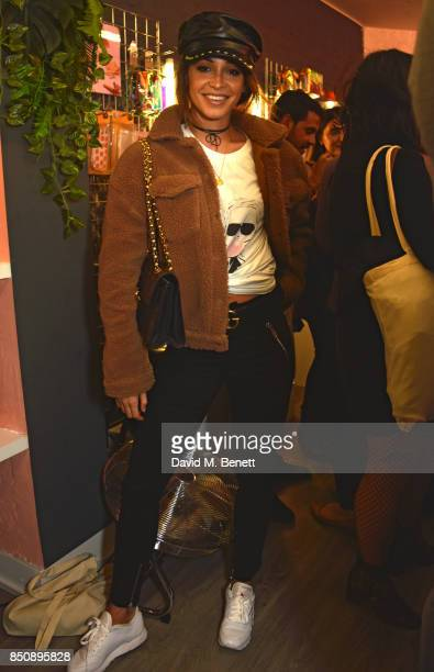 Danielle Peazer attends the Starbucks x Skinnydip PSL Season party at 29 Neal Street on September 21 2017 in London England