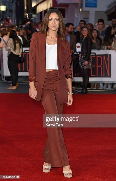 Danielle Peazer attends the UK Premiere of 'The Intern' at Vue West End on September 27 2015 in London England