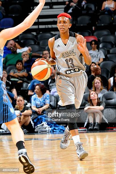 Danielle Robinson of the San Antonio Stars drives against the Minnesota Lynx at the ATT Center on June 1 2014 in San Antonio Texas NOTE TO USER User...