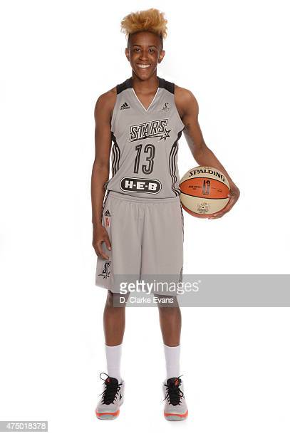 Danielle Robinson of the San Antonio Stars poses for a portrait during Media Day at the Freeman Coliseum on May 26 2015 in San Antonio Texas NOTE TO...