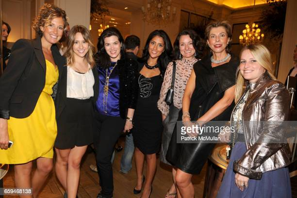 Danielle Sakmar Lauren Skorupski Gail Scheck Crystal Dawli Ginny HersheyLambert Agatha Wirth and Megan Spiak attend Bergdorf Goodman Celebrates...
