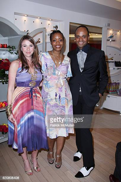 Danielle Sanders Tracy Reese and Steven Moore attend TRACY REESE Secret Garden Party at Tracy Reese Boutique on March 27 2008 in New York City