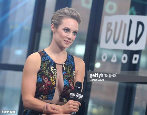 Danielle Savre appears to promote 'Too Close To Home' during the BUILD Series at Build Studio on March 22 2017 in New York City