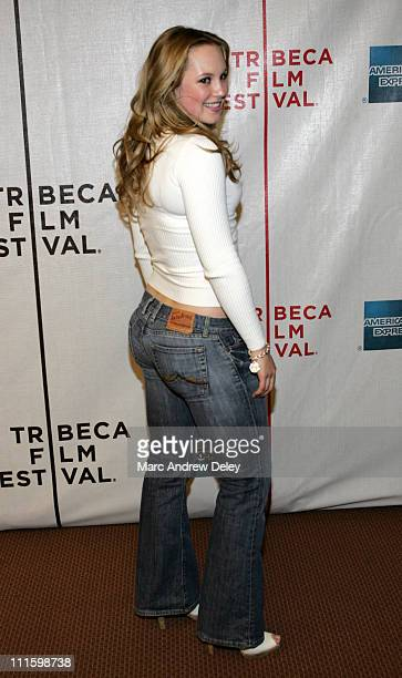 Danielle Savre during 6th Annual Tribeca Film Festival 'The Final Season' Arrivals at Pace University's Schimmel Center for the Arts in New York City...